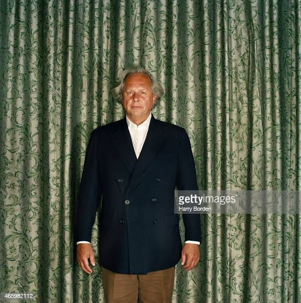 Journalist and editor of Vanity Fair Graydon Carter is photographed for Arena Magazine on August 23 2004 in London England