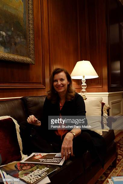 Journalist and former first lady to France's President Francois Hollande Valerie Trierweiler is photographed for Paris Match during a humanitarian...