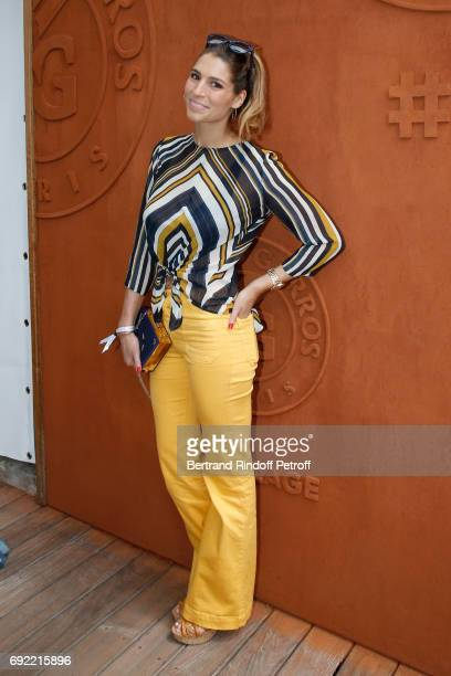 Journalist and Miss France 2011 Laury Thilleman attends the 2017 French Tennis Open Day Height at Roland Garros on June 4 2017 in Paris France