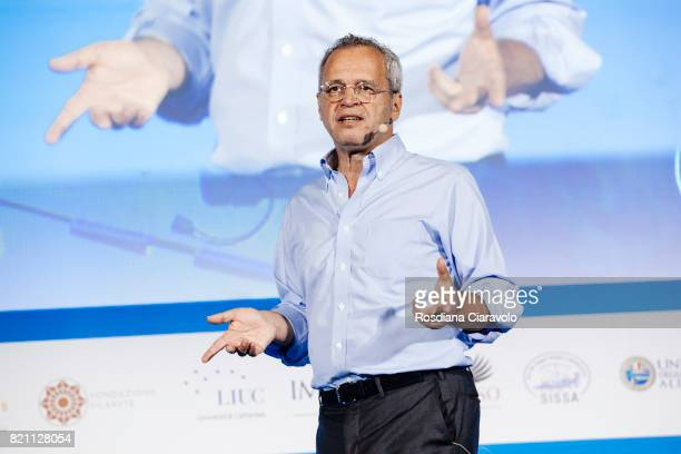 Journalist and television host Enrico Mentana attends Campus Party on July 22 2017 in Milan Italy
