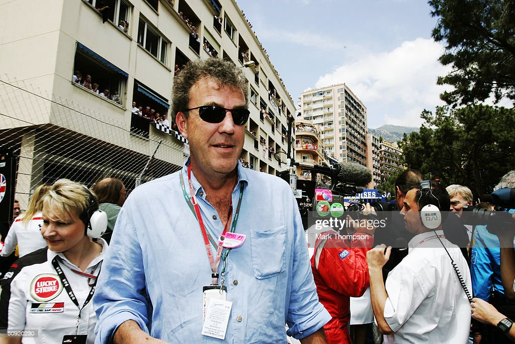 Journalist and television presenter Jeremy Clarkson on the grid before the Monaco F1 Grand Prix on May 23, 2004, in Monte Carlo, Monaco.