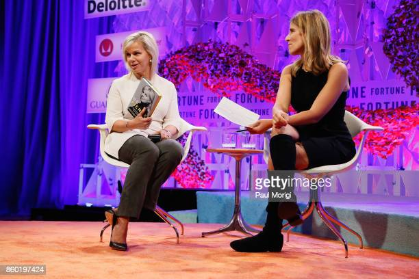 Journalist and Women's Empowerment Advocate Gretchen Carlson and Vanity Fair Contributing Editor Sarah Ellison speak onstage at the Fortune Most...