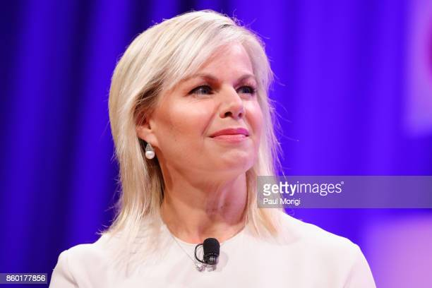 Journalist and Women's Empowerment Advocate Gretchen Carlson speaks onstage at the Fortune Most Powerful Women Summit Day 3 on October 11 2017 in...