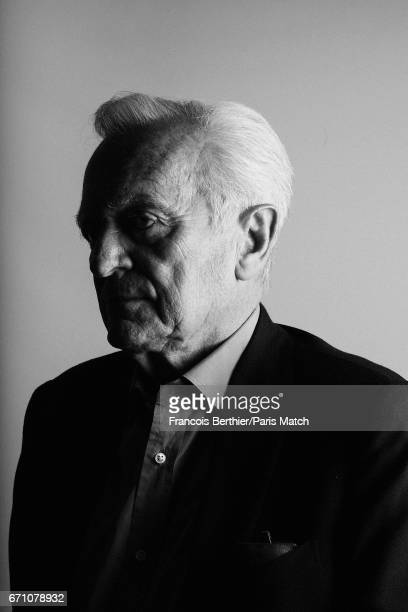 Journalist and writer Philippe Labro is photographed for Paris Match on March 27 2017 in Paris France