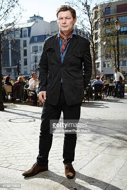 Journalist and writer Stanislas De Haldat is photographed for Paris Match in Levallois Perret near Paris on March 10 2014