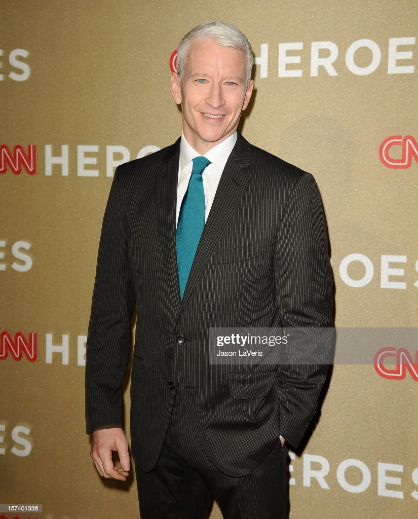 Journalist Anderson Cooper attends CNN Heroes: An All-Star Tribute at The Shrine Auditorium on December 2, 2012 in Los Angeles, California.