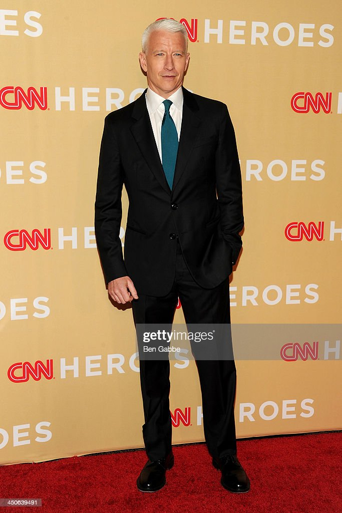 Journalist <a gi-track='captionPersonalityLinkClicked' href=/galleries/search?phrase=Anderson+Cooper&family=editorial&specificpeople=226776 ng-click='$event.stopPropagation()'>Anderson Cooper</a> attends the 2013 CNN Heroes at the American Museum of Natural History on November 19, 2013 in New York City.