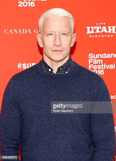 Journalist Anderson Cooper attends the 'Nothing Left Unsaid Gloria Vanderbilt Anderson Cooper' Premiere during the 2016 Sundance Film Festival at The...
