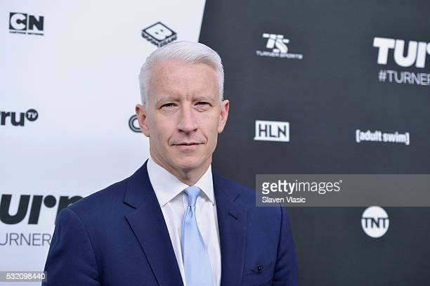 Journalist Anderson Cooper attends the Turner Upfront 2016 at Nick Stef's Steakhouse on May 18 2016 in New York City