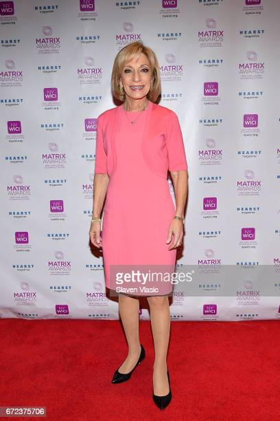 Journalist Andrea Mitchell attends 2017 Matrix Awards at Sheraton New York Times Square on April 24 2017 in New York City