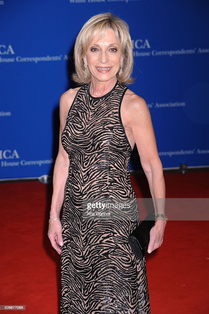 Journalist <a gi-track='captionPersonalityLinkClicked' href=/galleries/search?phrase=Andrea+Mitchell&family=editorial&specificpeople=751479 ng-click='$event.stopPropagation()'>Andrea Mitchell</a> attends the 102nd White House Correspondents' Association Dinner on April 30, 2016 in Washington, DC.
