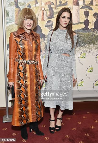 Journalist Anna Wintour and daughter Bee Shaffer attend the 2016 New York City Center Gala at New York City Center on October 24 2016 in New York City