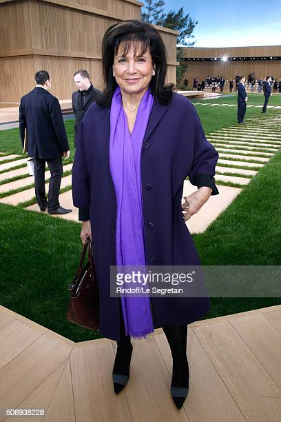 Journalist Anne Sinclair attends the Chanel Spring Summer 2016 show as part of Paris Fashion Week on January 26 2016 in Paris France