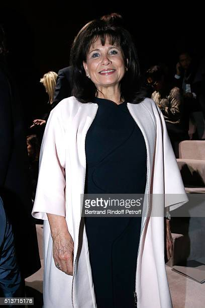 Journalist Anne Sinclair attends the Christian Dior show as part of the Paris Fashion Week Womenswear Fall/Winter 2016/2017 on March 4 2016 in Paris...
