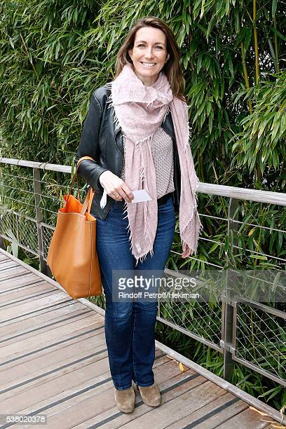 Journalist AnneClaire Coudray attends Day Fourteen Women single's Final of the 2016 French Tennis Open at Roland Garros on June 4 2016 in Paris France