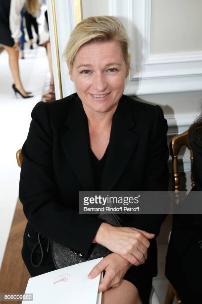 Journalist AnneElisabeth Lemoine attends the Schiaparelli Haute Couture Fall/Winter 20172018 show as part of Haute Couture Paris Fashion Week on July...