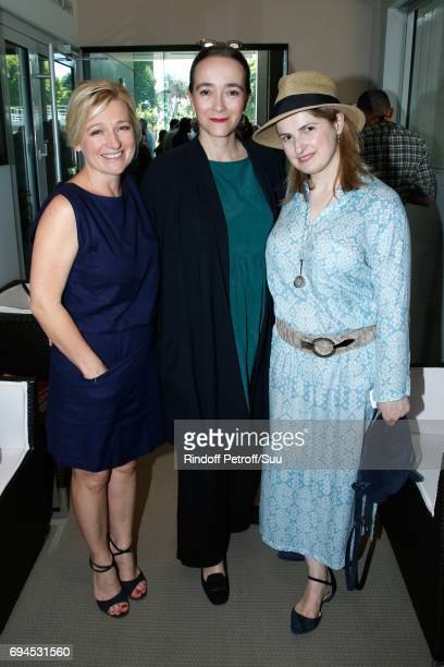 Journalist AnneElizabeth Lemoine President of France Television Delphine Ernotte and Beatrice de Clermont Tonnerre attend the Women Final of the 2017...