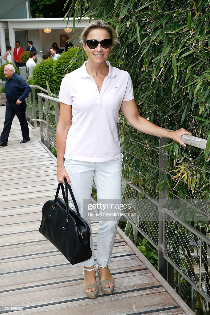 Journalist <a gi-track='captionPersonalityLinkClicked' href=/galleries/search?phrase=Anne-Sophie+Lapix&family=editorial&specificpeople=4122127 ng-click='$event.stopPropagation()'>Anne-Sophie Lapix</a> attends Day Seven of the 2016 French Tennis Open at Roland Garros on May 28, 2016 in Paris, France.