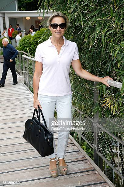 Journalist AnneSophie Lapix attends Day Seven of the 2016 French Tennis Open at Roland Garros on May 28 2016 in Paris France
