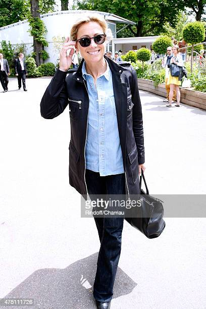 Journalist AnneSophie Lapix attends the 2015 Roland Garros French Tennis Open Day Six on May 29 2015 in Paris France