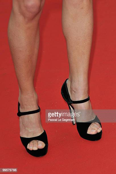 Journalist AnneSophie Lapix attends the 'You Will Meet A Tall Dark Stranger' Premiere at the Palais des Festivals during the 63rd Annual Cannes Film...