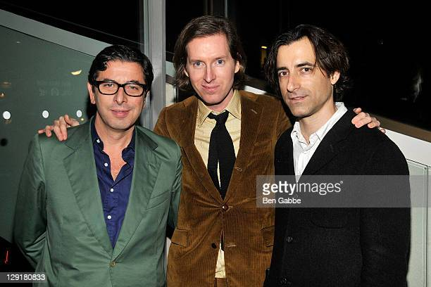 Journalist Antonio Monda director Wes Anderson and director Noah Baumbach attend the 10th Anniversary screening of the 'Royal Tenenbaums' during the...