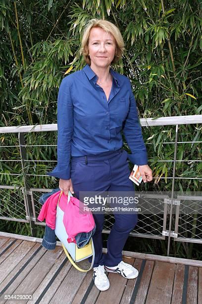 Journalist Ariane Massenet attends the 2016 French Tennis Open Day Five at Roland Garros