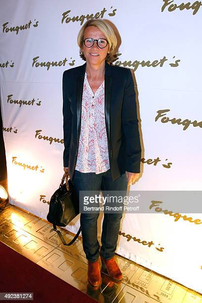 Journalist Ariane Massenet attends the Fouquet's Paris Restaurant presents its Menu 'Twisted' by the Chef Pierre Gagnaire Held at Le Fouquet's on...
