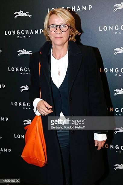 Journalist Ariane Massenet attends the Longchamp Elysees 'Lights On Party' Boutique Launch on December 4 2014 in Paris France