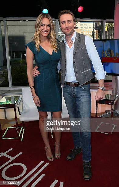 Journalist Ashlan Gorse and husband filmmaker Philippe Cousteau Jr visit Hollywood Today Live at W Hollywood on June 30 2016 in Hollywood California