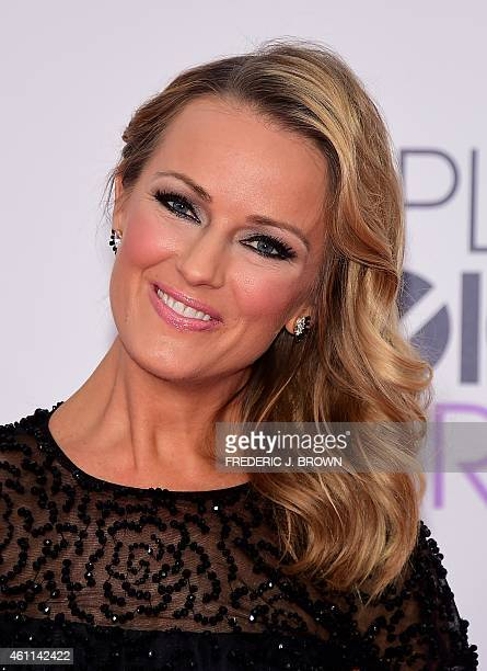 Journalist Ashlan Gorse arrives on the red carpet for The 41st Annual People's Choice Awards at the Nokia Theatre LA Live in Los Angeles California...