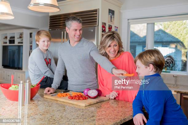 Journalist Ashleigh Banfield is photographed with fiancé Chris Haynor and sons Ridley and Jay for Closer Weekly Magazine on March 4 2017 at home in...