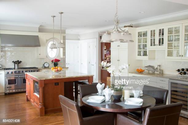 Journalist Ashleigh Banfield's home is photographed for Closer Weekly Magazine on March 4 2017 in Connecticut Banfield's kitchen PUBLISHED IMAGE