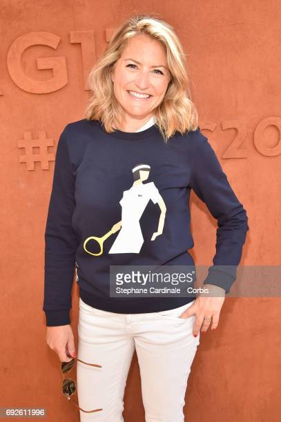 Journalist Astrid Bard attends the 2017 French Tennis Open Day Nine at Roland Garros on June 5 2017 in Paris France