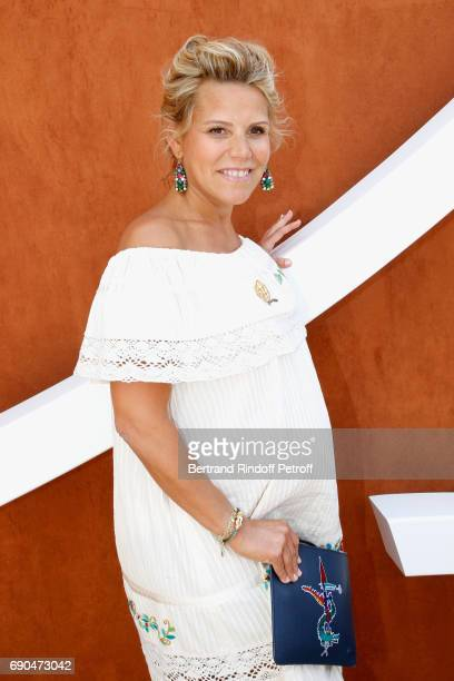 Journalist at 'Telematin' Laura Tenoudji attends the 2017 French Tennis Open Day Four at Roland Garros on May 31 2017 in Paris France