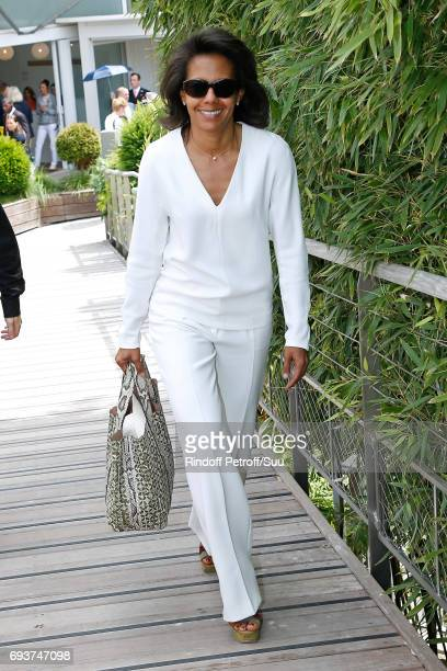 Journalist Audrey Pulvar attends the 2017 French Tennis Open Day Twelve at Roland Garros on June 8 2017 in Paris France