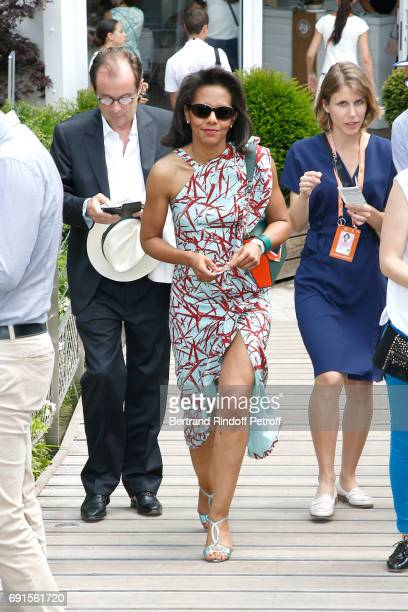 Journalist Audrey Pulvar attends the 2017 French Tennis Open Day Six at Roland Garros at Roland Garros on June 2 2017 in Paris France
