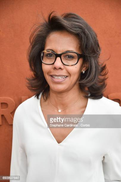 Journalist Audrey Pulvar attends the French Tennis Open 2017 Day Twelve at Roland Garros on June 8 2017 in Paris France