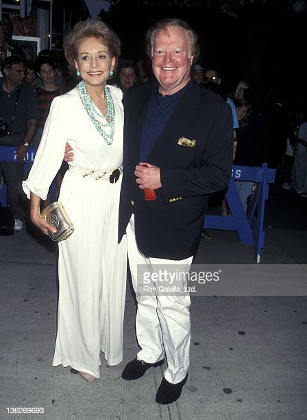 TV journalist Barbara Walters and TV journalist Roone Arledge attend 'The Edge' East Hampton Premiere on August 16 1997 at the East Hampton Cinema in...