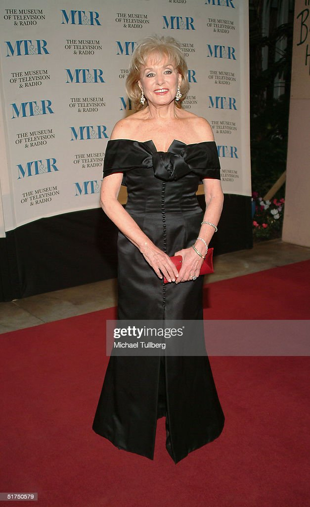 Journalist <a gi-track='captionPersonalityLinkClicked' href=/galleries/search?phrase=Barbara+Walters&family=editorial&specificpeople=201871 ng-click='$event.stopPropagation()'>Barbara Walters</a> arrives at the Museum of Television and Radio's gala tribute to <a gi-track='captionPersonalityLinkClicked' href=/galleries/search?phrase=Barbara+Walters&family=editorial&specificpeople=201871 ng-click='$event.stopPropagation()'>Barbara Walters</a>, held on November 15, 2004 at the Beverly Hills Hotel, in Beverly Hills, CA, California.