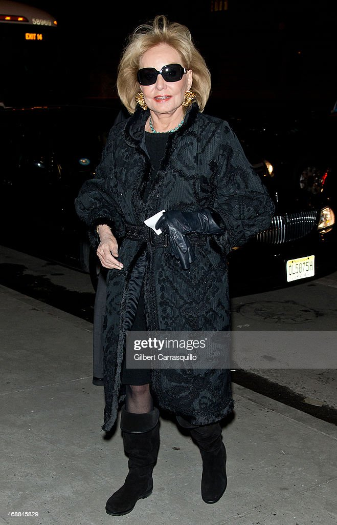 Journalist <a gi-track='captionPersonalityLinkClicked' href=/galleries/search?phrase=Barbara+Walters&family=editorial&specificpeople=201871 ng-click='$event.stopPropagation()'>Barbara Walters</a> attends Oscar De La Renta fashion show during Fall 2014 Mercedes - Benz Fashion Week on February 11, 2014 in New York City.
