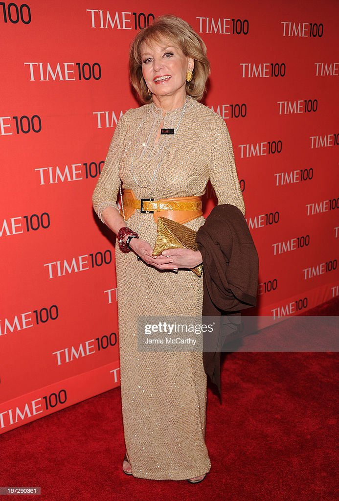Journalist Barbara Walters attends the 2013 Time 100 Gala at Frederick P. Rose Hall, Jazz at Lincoln Center on April 23, 2013 in New York City.