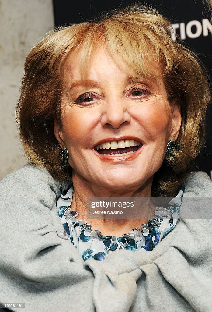 TV Journalist Barbara Walters attends The Hollywood Reporters 35 Most Powerful People In Media at Four Seasons Grill Room on April 10, 2013 in New York City.