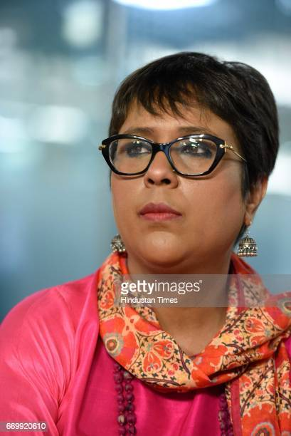 Journalist Barkha Dutt during an interview on April 18 2017 in New Delhi India