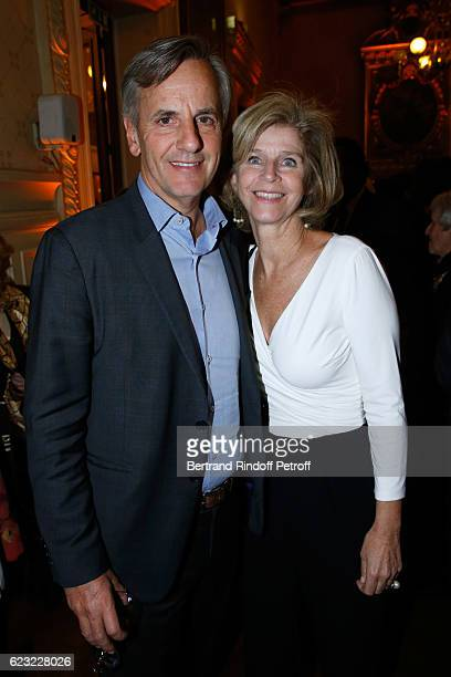 Journalist Bernard de la Villardiere with hhis wife Anne de la Villardiere attend the 24th 'Gala de l'Espoir' at Theatre du Chatelet on November 14...