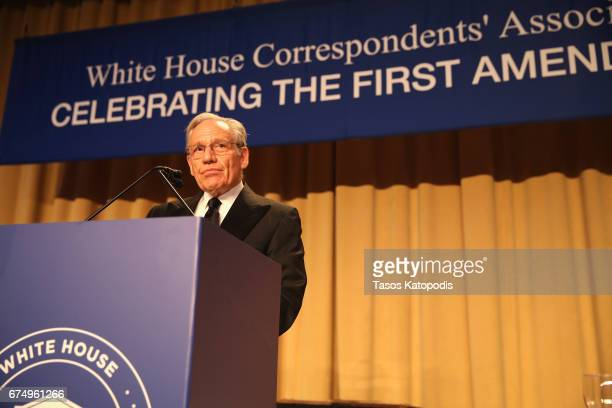 Journalist Bob Woodward attends the 2017 White House Correspondents' Association Dinner at Washington Hilton on April 29 2017 in Washington DC