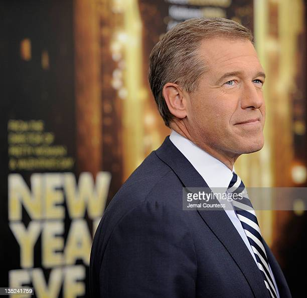 Journalist Brian Williams poses for a photo during the 'New Year's Eve' premiere at Ziegfeld Theatre on December 7 2011 in New York City