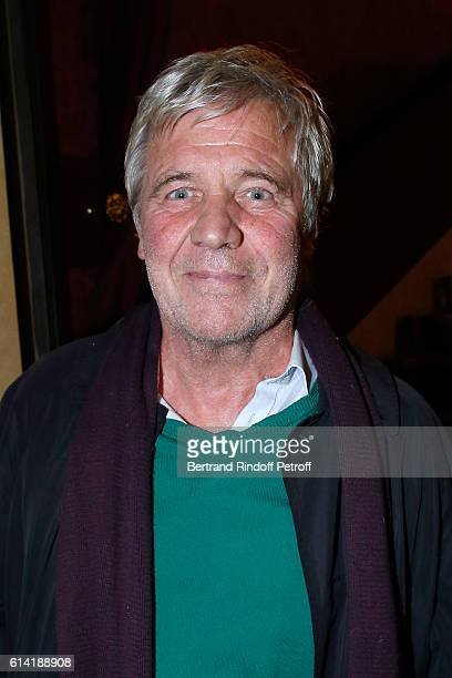 Journalist Bruno Masure attends the 'A Droite A Gauche' Theater Play at Theatre des Varietes on October 12 2016 in Paris France