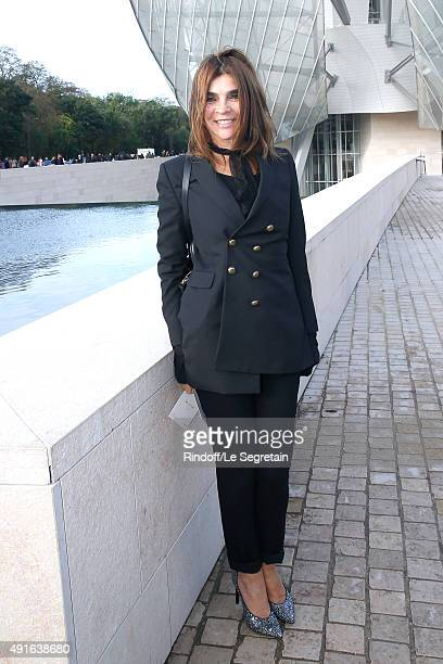 Journalist Carine Roitfeld attends the Louis Vuitton show as part of the Paris Fashion Week Womenswear Spring/Summer 2016 Held at Fondation Louis...