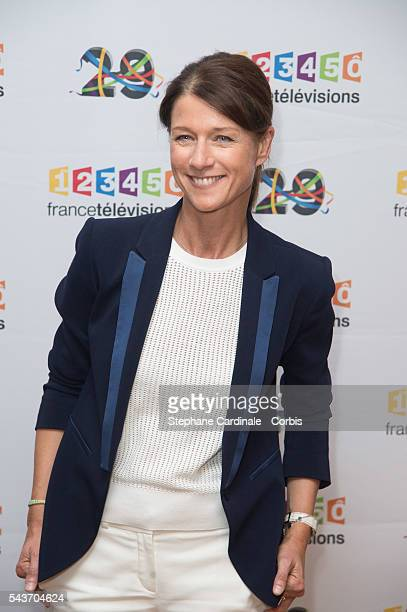 Journalist Carole Gaessler attends the France Television 2016/2017 Photocall on June 29 2016 in Paris France